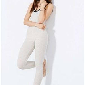 Out From Under Cream Ribbed Catsuit Loungewear